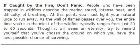 don't panic fire