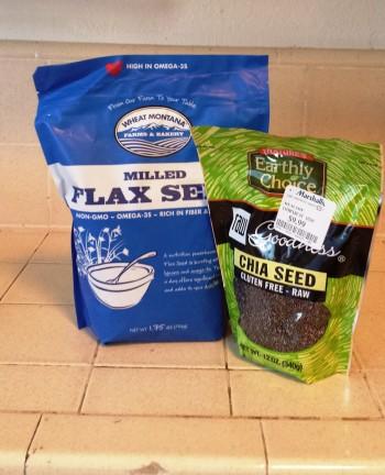 flax seed and chia seeds