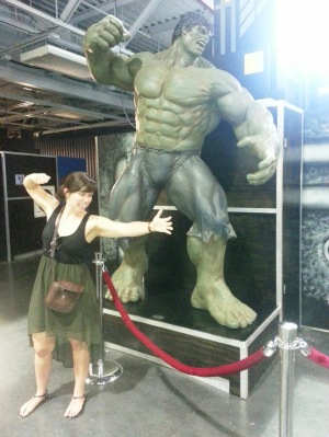 practicing being the hulk