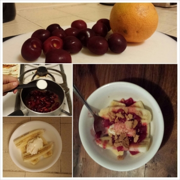 cherry orange compote