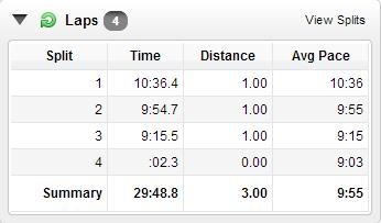 3 miles under 30